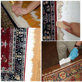 تمیز کردن لبه های فرش