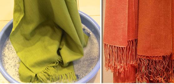 خشکشویی شال و روسری