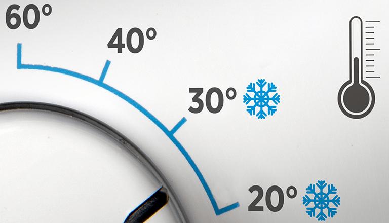 تنظیم دمای آب برای شستشو