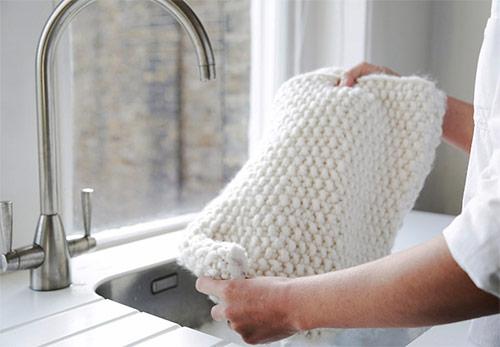 خشکشویی شال پشمی